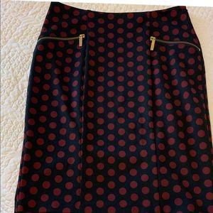 Michael Kors burgundy pencil skirt